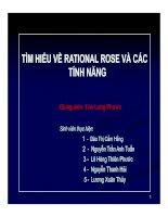 TÌM HIỂU VỀ RATIONAL ROSE VÀ CÁC TÍNH NĂNG pptx