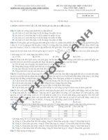 Đề thi thử ĐH 2013 môn Sinh trường ĐH KHTN Huế doc