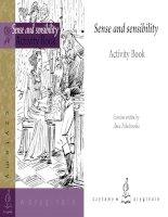 Sense and sensibility activity book