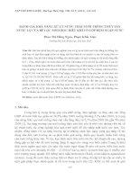 ĐÁNH GIÁ KHẢ NĂNG XỬ LÝ NƯỚC THẢI NUÔI TRỒNG THỦY SẢN NƯỚC LỢ CỦA BỂ LỌC SINH HỌC HIẾU KHÍ CÓ LỚP ĐỆM NGẬP NƯỚC potx