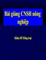 Bài giảng CNSH nông nghiệp potx