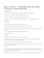 Địa Lí 12 Bài 32 – Vấn đề khai thác thế mạnh ở Trung du và miền núi Bắc Bộ