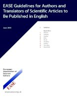 ease guidelines for authors and translators of scientific articles to be published in english