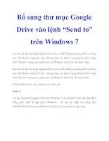 """Bổ sung thư mục Google Drive vào lệnh """"Send to"""" trên Windows 7 doc"""