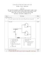 đáp án đề thi lí thuyết tốt nghiệp khóa 3 - kỹ thuật máy lạnh và điều hòa không khí - mã đề thi ktml - đhkk - lt  (8)