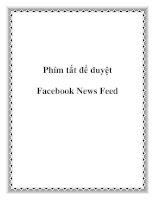 Phím tắt để duyệt Facebook News Feed pdf
