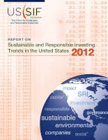 Sustainable and Responsible Investing Trends in the United States 2012 pot