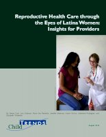Reproductive Health Care through the Eyes of Latina Women: Insights for Providers ppt