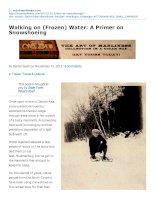 Walking on (Frozen) Water: A Primer on Snowshoeing