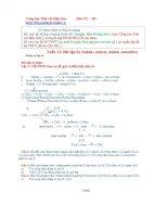 Bài tập ôn tập ankan, anken, ankadien, ankin