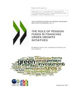 THE ROLE OF PENSION FUNDS IN FINANCING GREEN GROWTH INITIATIVES potx