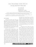 Báo cáo khoa học: Khai thác bài đọc trong việc dạy và học ngữ pháp tiếng Anh ppt