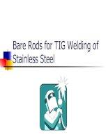 Bare rods for TIG welding
