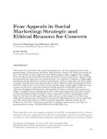 Fear Appeals in Social Marketing: Strategic and Ethical Reasons for Concern ppt