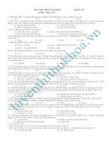 đề thi thử đại học hóa hữu cơ mã đề 117