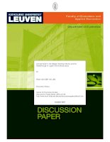 Concentration in the Belgian brewing Industry and the Breakthrough of Lager in the interwar years pptx