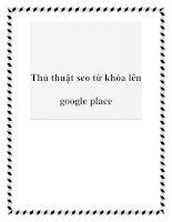 Thủ thuật seo từ khóa lên google place pot