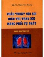 Phẩu thuật nội soi điều trị tràn khí màng phổi tự phát doc