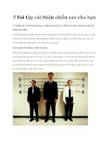 5 bài tập cải thiện chiều cao cho bạn ppt