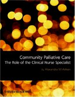 Community Palliative Care The Role of the Clinical Nurse Specialist pptx