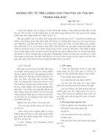 NHỮNG YẾU TỐ TIÊN LƯỢNG CHO THAI PHỤ VÀ THAI NHI TRONG SẢN GIẬT potx