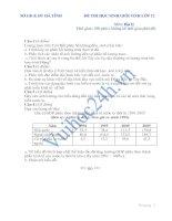 SỞ GD & ĐT HÀ TĨNH ĐỀ THI HỌC SINH GIỎI TỉNH LỚP 12 Môn: Địa lý đề số 4 pdf