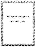 Những cách tiết kiệm khi du lịch Hồng Kông ppt