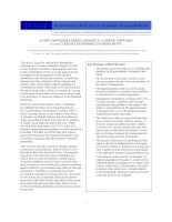 AUDIT CONSIDERATIONS in RESPECT of GOING CONCERN in the CURRENT ECONOMIC ENVIRONMENT doc