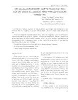Kết quả xác định độ nhạy cảm với kháng sinh (Mic) của các chủng Salmonella Typhi phân lập ở Đăklăk từ 1996 - 1998 doc
