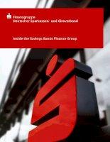 Finanzgruppe Deutscher Sparkassen- und Giroverband: Inside the Savings Banks Finance Group pptx