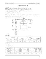 Bài tập lớn - Cơ học đất potx
