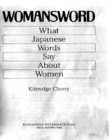 womansword what japanese words say about women