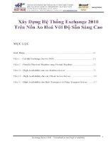 Xây Dựng Hệ Thống Exchange 2010 Trên Nền Ảo Hoá Với Độ Sẵn Sàng Cao pptx