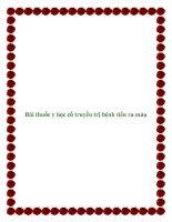 Bài thuốc y học cổ truyền trị bệnh tiểu ra máu pdf