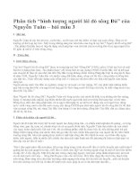 """Phân tích """"hình tượng người lái đò sông Đà"""" của Nguyễn Tuân – bài mẫu 3"""