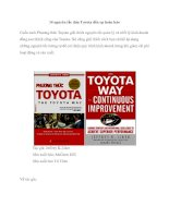 14 nguyên tắc đưa Toyota đến sự hoàn hảo pot