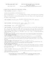 đề thi thử đại học lần 1 môn toán khối a năm 2014 - trường thpt đức thọ