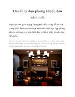 Chuẩn bị dọn phòng khách đón năm mới pdf