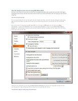 Các thủ thuật cơ bản khi sử dụng MS word 2007