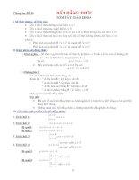 Tổng hợp các bất đẳng thức trong toán học