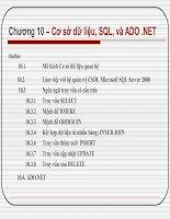 Chương 10 – Cơ sở dữ liệu, SQL, và ADO .NET pptx