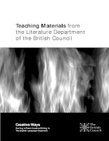 Teaching Materials from the Literature Department of the British Council doc