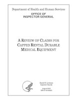 A REVIEW OF CLAIMS FOR CAPPED RENTAL DURABLE MEDICAL EQUIPMENT potx