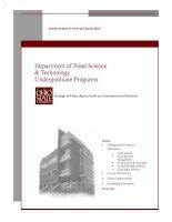 Department of Food Science & Technology Undergraduate Programs pdf