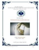 Gía trị dinh dưỡng và đặc điểm vệ sinh của sữa