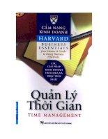 Cẩm nang Kinh doanh Harvard – Quản lý thời gian doc
