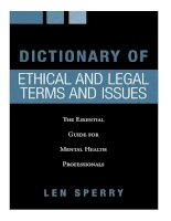 DICTIONARY OF ETHICAL AND LEGAL TERMS AND ISSUES pptx