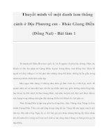 Thuyết minh về một danh lam thắng cảnh ở Địa Phương em - Thác Giang Điền (Đồng Nai) - Bài làm 1 doc