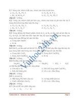 Bài tập trắc nghiệm hóa học 9 docx