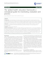 The 'global health' education framework: a conceptual guide for monitoring, evaluation and practice doc